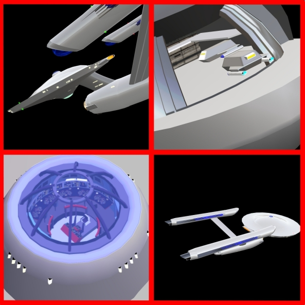 Cinndreia Messmers amazing, detailed miniature of the Start Trek starship Enterprise C