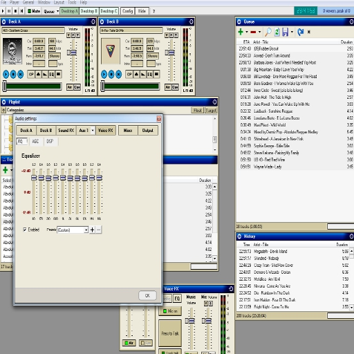 SAM Broadcaster User Interface
