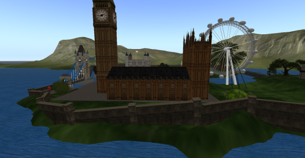 Tower of London, The London Eye, and the Palace of Westminster in New London Village