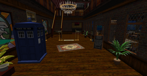 Tardis in the Foyer of Brunel Hall Hotel and Restaurant