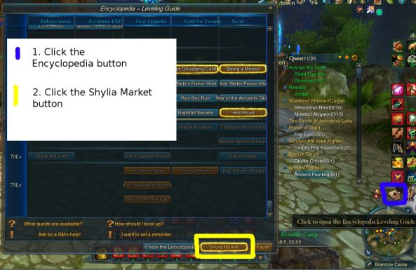 Fig. 1: How to enter Shylia Market