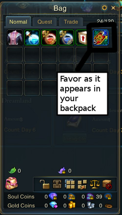Fig. 4: Favor in your backpack